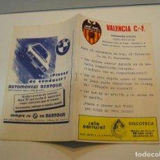 Coleccionismo deportivo: PROGRAMA REVISTA FUTBOL , VALENCIA CF BOHEMIANS CKD DE PRAGA , COPA UEFA 81 82. Lote 208108110