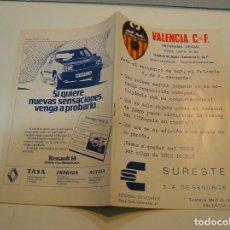 Coleccionismo deportivo: PROGRAMA OFICIAL-REVISTA FÚTBOL , VALENCIA CF-KLUB HAJDUK SPLIT, COPA DE EUROPA, 1981 1982. Lote 208108346