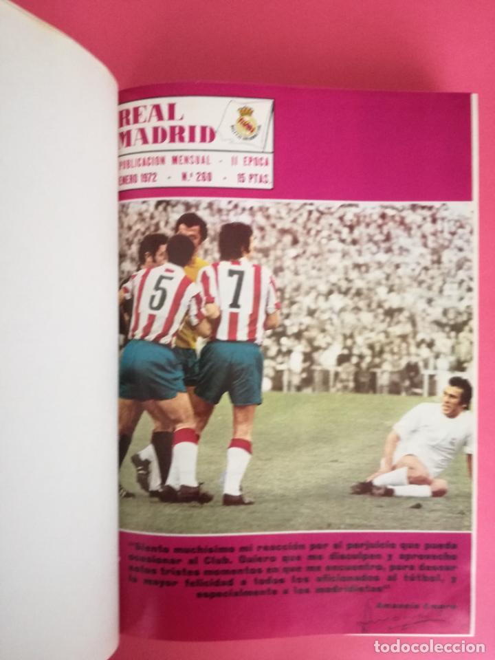 Coleccionismo deportivo: REVISTA REAL MADRID AÑO 1972 COMPLETO - INCLUYE EXTRA 25 AÑOS TOMO 13 REVISTAS BOLETIN OFICIAL 72 - Foto 2 - 208141956