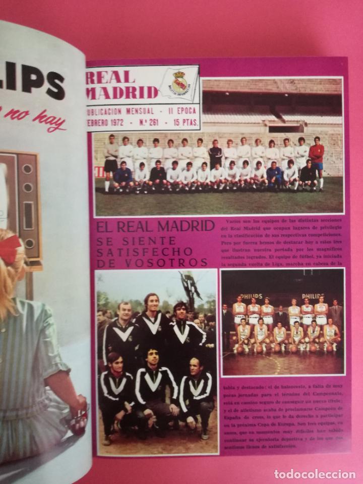 Coleccionismo deportivo: REVISTA REAL MADRID AÑO 1972 COMPLETO - INCLUYE EXTRA 25 AÑOS TOMO 13 REVISTAS BOLETIN OFICIAL 72 - Foto 3 - 208141956