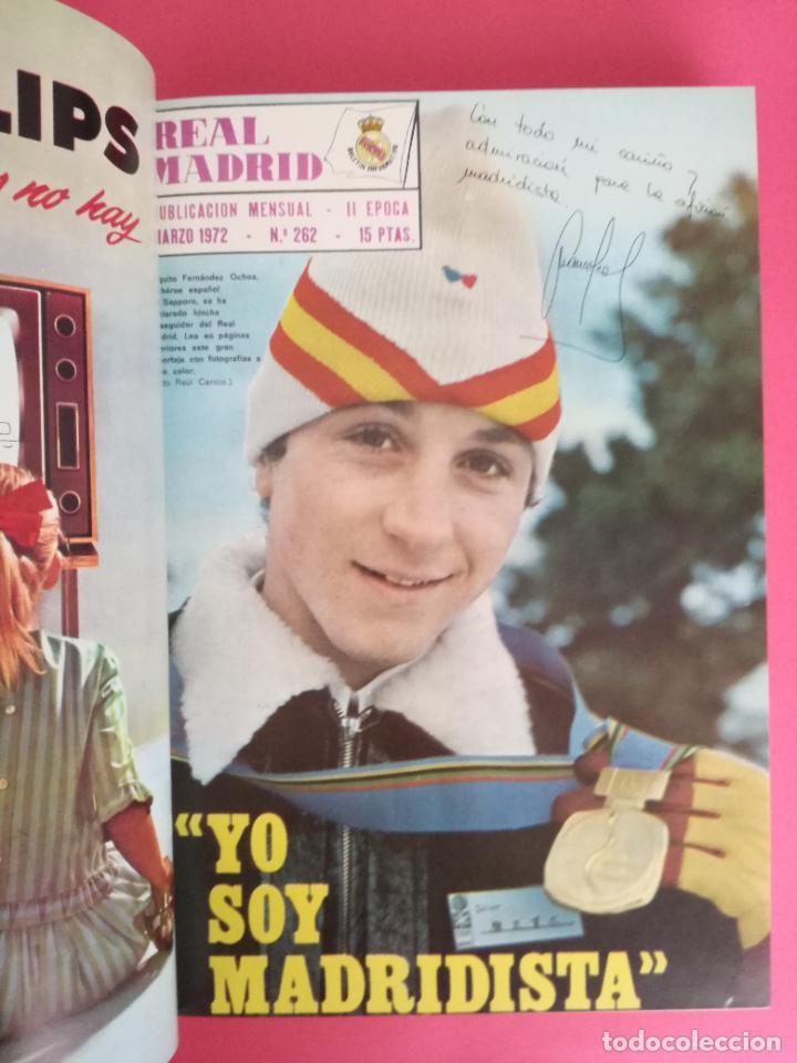 Coleccionismo deportivo: REVISTA REAL MADRID AÑO 1972 COMPLETO - INCLUYE EXTRA 25 AÑOS TOMO 13 REVISTAS BOLETIN OFICIAL 72 - Foto 4 - 208141956