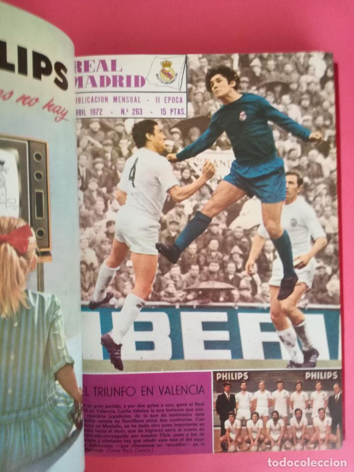 Coleccionismo deportivo: REVISTA REAL MADRID AÑO 1972 COMPLETO - INCLUYE EXTRA 25 AÑOS TOMO 13 REVISTAS BOLETIN OFICIAL 72 - Foto 5 - 208141956