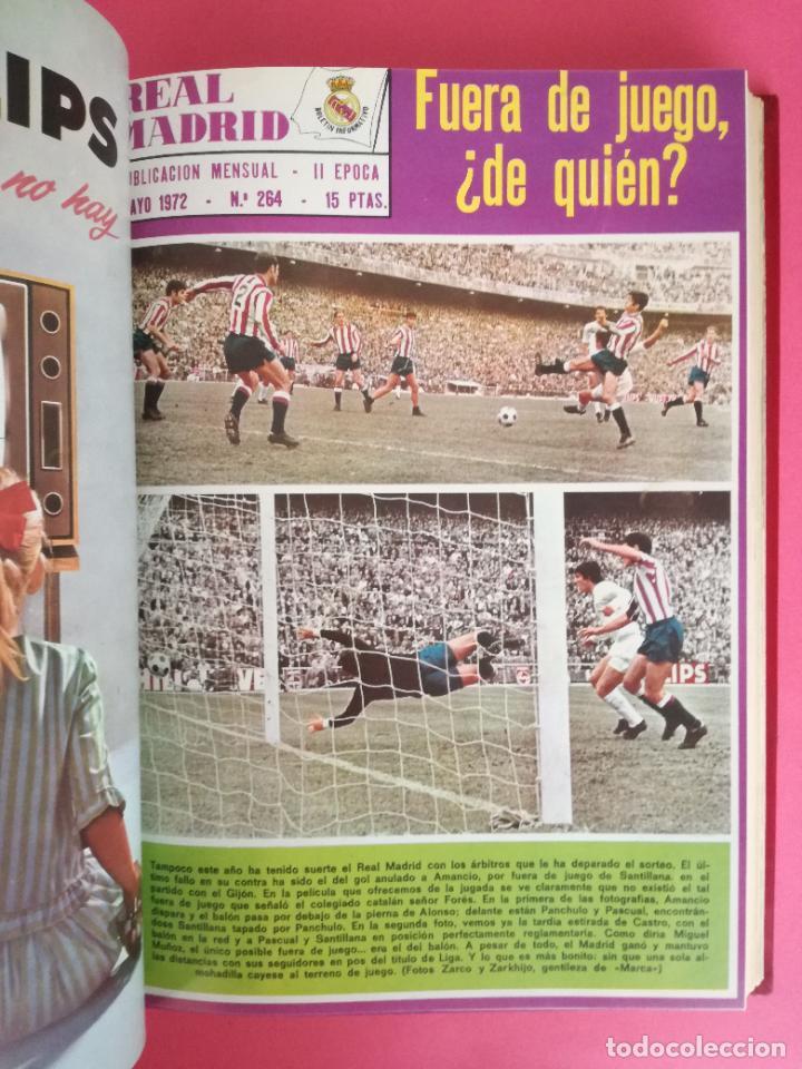 Coleccionismo deportivo: REVISTA REAL MADRID AÑO 1972 COMPLETO - INCLUYE EXTRA 25 AÑOS TOMO 13 REVISTAS BOLETIN OFICIAL 72 - Foto 6 - 208141956