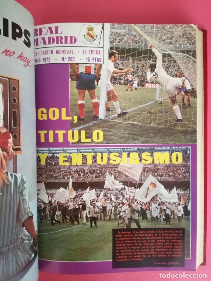 Coleccionismo deportivo: REVISTA REAL MADRID AÑO 1972 COMPLETO - INCLUYE EXTRA 25 AÑOS TOMO 13 REVISTAS BOLETIN OFICIAL 72 - Foto 7 - 208141956