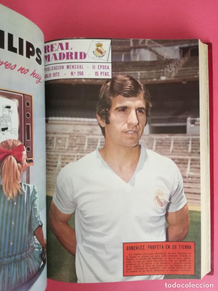 Coleccionismo deportivo: REVISTA REAL MADRID AÑO 1972 COMPLETO - INCLUYE EXTRA 25 AÑOS TOMO 13 REVISTAS BOLETIN OFICIAL 72 - Foto 8 - 208141956