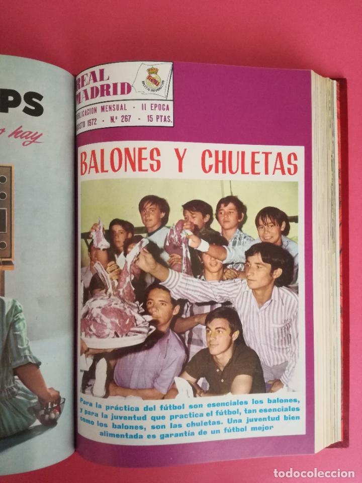 Coleccionismo deportivo: REVISTA REAL MADRID AÑO 1972 COMPLETO - INCLUYE EXTRA 25 AÑOS TOMO 13 REVISTAS BOLETIN OFICIAL 72 - Foto 9 - 208141956