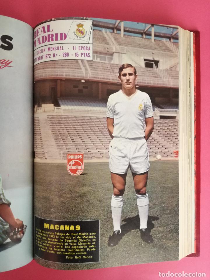 Coleccionismo deportivo: REVISTA REAL MADRID AÑO 1972 COMPLETO - INCLUYE EXTRA 25 AÑOS TOMO 13 REVISTAS BOLETIN OFICIAL 72 - Foto 10 - 208141956