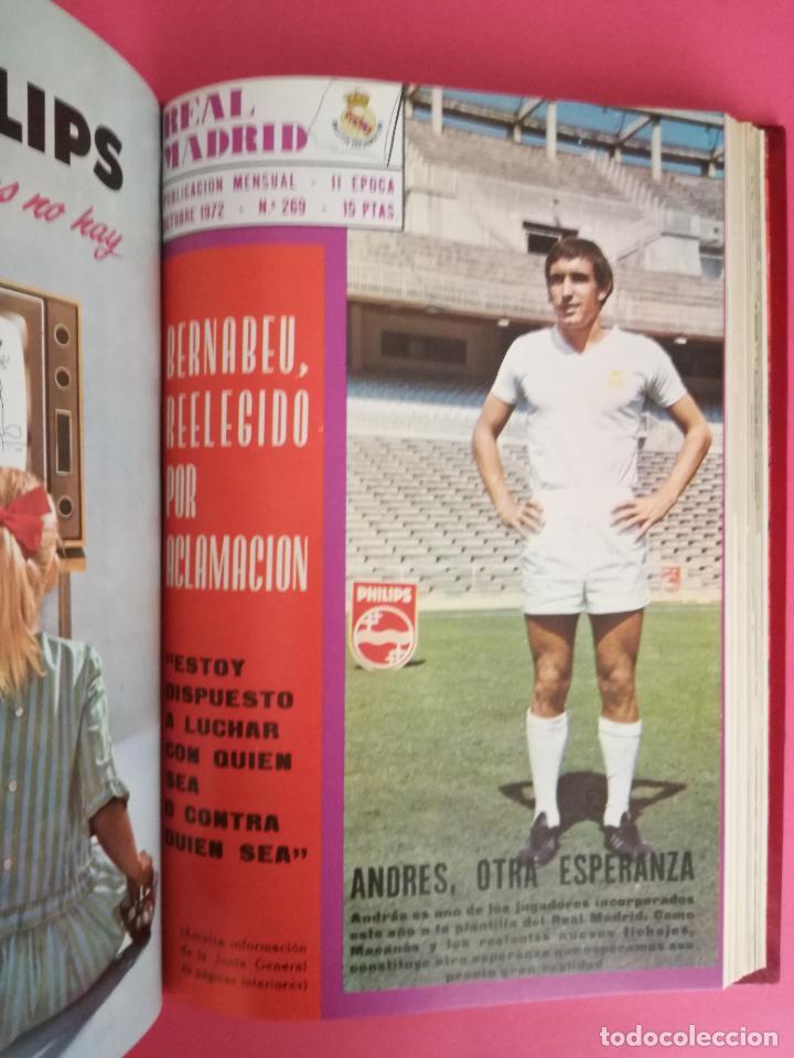 Coleccionismo deportivo: REVISTA REAL MADRID AÑO 1972 COMPLETO - INCLUYE EXTRA 25 AÑOS TOMO 13 REVISTAS BOLETIN OFICIAL 72 - Foto 11 - 208141956