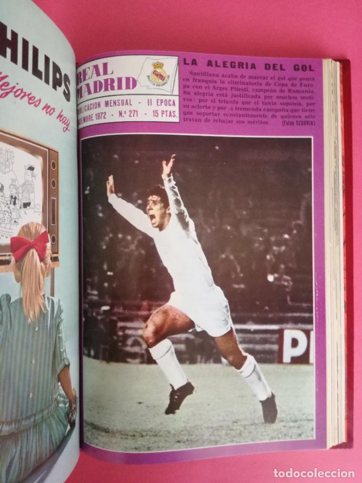 Coleccionismo deportivo: REVISTA REAL MADRID AÑO 1972 COMPLETO - INCLUYE EXTRA 25 AÑOS TOMO 13 REVISTAS BOLETIN OFICIAL 72 - Foto 13 - 208141956