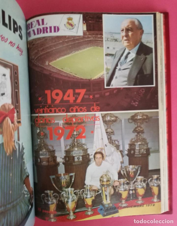REVISTA REAL MADRID AÑO 1972 COMPLETO - INCLUYE EXTRA 25 AÑOS TOMO 13 REVISTAS BOLETIN OFICIAL 72 (Coleccionismo Deportivo - Revistas y Periódicos - otros Fútbol)