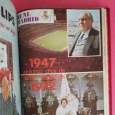 Coleccionismo deportivo: REVISTA REAL MADRID AÑO 1972 COMPLETO - INCLUYE EXTRA 25 AÑOS TOMO 13 REVISTAS BOLETIN OFICIAL 72. Lote 208141956