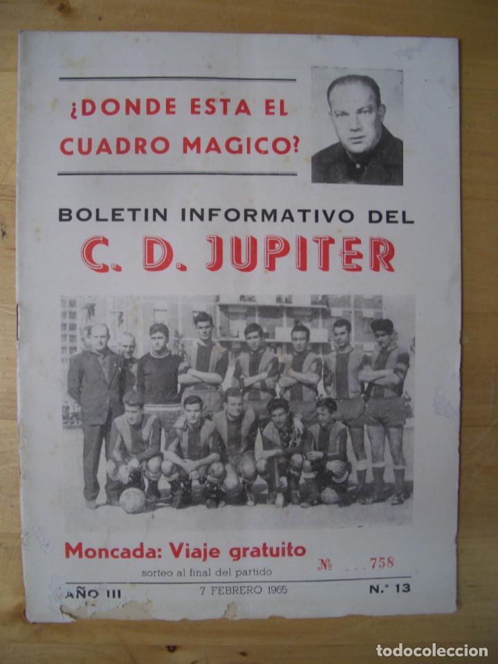 Coleccionismo deportivo: BOLETIN INFORMATIVO DEL CLUB DEPORTIVO JUPITER nº 13 y 16 BARCELONA FUTBOL 1965 - Foto 3 - 208147612