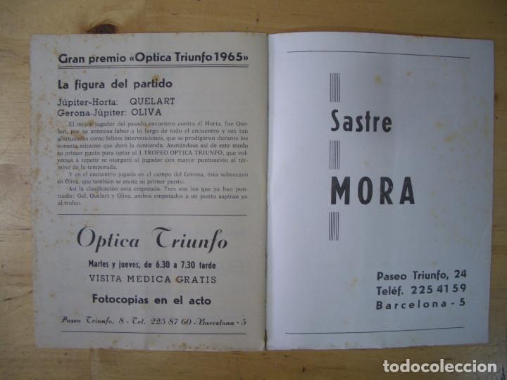 Coleccionismo deportivo: BOLETIN INFORMATIVO DEL CLUB DEPORTIVO JUPITER nº 13 y 16 BARCELONA FUTBOL 1965 - Foto 4 - 208147612