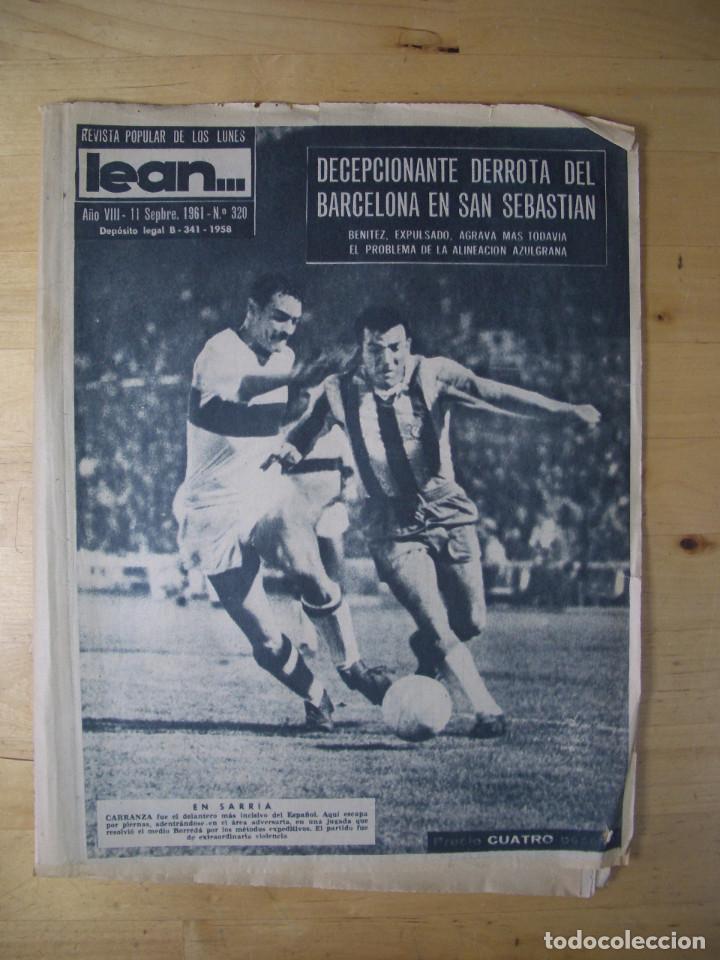 LOTE DE 22 REVISTA LEAN FUTBOL PERIODICO DIARIO DEPORTIVO DEPORTES 1961 1962 1963 (Coleccionismo Deportivo - Revistas y Periódicos - otros Fútbol)