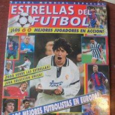 Coleccionismo deportivo: ESTRELLAS DEL FUTBOL Nº 1 / 60 MEJORES FUTBOLISTAS AÑOS 90 - BAGGIO HIERRO LAUDRUP CANTONA SAMMER. Lote 208164356