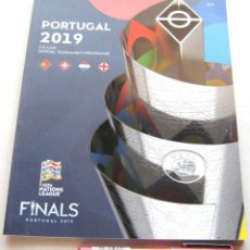 Coleccionismo deportivo: PORTUGAL 2019 5-9 JUNE UEFA NATIONS LEAGUE FINALS : PORTUGAL SUISSE HOLLAND ENGLAND 84 PGS. Lote 208673502