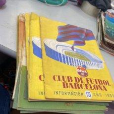 Collectionnisme sportif: LOTE DE 19 REVISTAS CLUB DE FÚTBOL BARCELONA 1954 - 1955 -1966 . VER LOS NÚMEROS EN FOTOS. Lote 208856620