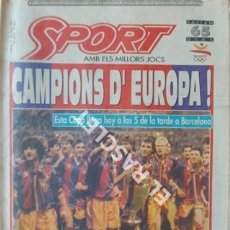 Coleccionismo deportivo: DIARIO SPORT - CAMPIONS D,EUROPA - ANY 1992 Nº 4496 -. Lote 209031005