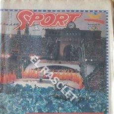 Coleccionismo deportivo: DIARIO SPORT - APOTEOSICO - ANY 1992 Nº 4562 -. Lote 209031145