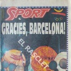 Coleccionismo deportivo: DIARIO SPORT - GRACIES BARCELONA - ANY 1992 Nº 4577 -. Lote 209031267