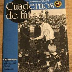 Collectionnisme sportif: CUADERNOS DE FÚTBOL- RICARDO ZAMORA-. Lote 209063073