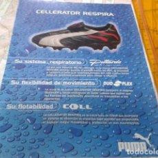 Coleccionismo deportivo: RECORTE PAGINA REVISTA POSTER PUBLICIDAD ( PUMA - CELLERATOR RESPIRA ). Lote 209265440