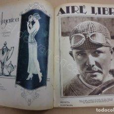 Coleccionismo deportivo: AIRE LIBRE. REVISTA DE DEPORTES. TOMO ENCUADERNADO AÑO 1925. SEPTIEMBRE A DICIEMBRE. Nº 90 A Nº 107. Lote 209746110