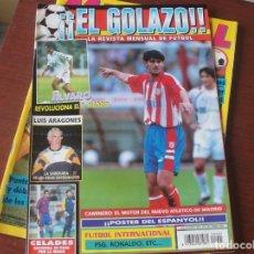 Coleccionismo deportivo: EL GOLAZO 5 / 1996 - ARAGONES / ALVARO BENITO / RONALDO / ANTIC / PSG / CRUYFF / POSTER ESPANYOL. Lote 209933737