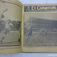 Coleccionismo deportivo: EL CAMPEON. TOMO ENCUADERNADO DE EDITORIAL. NUMEROS CORRELATIVOS. TOMO II. AÑOS 1920S. 208 PÁGINAS. Lote 210020826