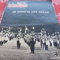 Colecionismo desportivo: BOLETIN OFICIAL F.C.BARCELONA Nº: 18(OCTUBR-1963)TROFEO CARRANZA-RECOPA BARÇA-SHELBOURNE,GIRA MEJICO. Lote 210035696