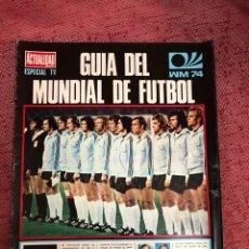 Collectionnisme sportif: GUIA DEL MUNDIAL DE FÚTBOL ALEMANIA 74. Lote 210238653