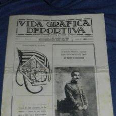 Coleccionismo deportivo: (M) VIDA GRÁFICA DEPORTIVA AÑO I N.I BARCELONA 1921 JOAQUIN PERIS DE VARGAS PRESIDENTE FC BARCELONA. Lote 210303377