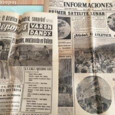 Collezionismo sportivo: PERIODICOS INFORMACIONES Y DEPORTES 1966. ATLETICO MADRID CAMPEÓN. Lote 210379903
