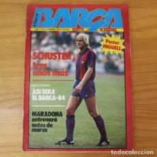 Collezionismo sportivo: LA SAGA DEL BARÇA 3, FEBRERO 1983. SCHUSTER, MARADONA.... INCLUYE POSTER MIGUELI.. Lote 210431941