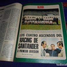 Coleccionismo deportivo: BLANCO Y NEGRO AÑO 1973 RACING DE SANTANDER A 1ª DIVISIÓN ATLÉTICO MADRID CAMPEÓN LIGA MARLON BRANDO. Lote 210438815