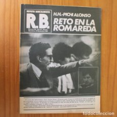 Coleccionismo deportivo: RB REVISTA BARCELONISTA 816, NOVIEMBRE 1980. HELENIO HERRERA PICHI ALONSO... BARÇA FUTBOL CLUB BARCE. Lote 210534783