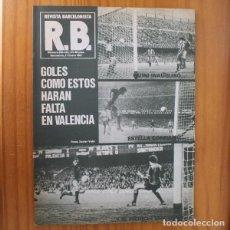 Coleccionismo deportivo: RB REVISTA BARCELONISTA 825, ENERO 1981. QUINI, SPORTING GIJON... BARÇA FUTBOL CLUB BARCELONA. Lote 210534932