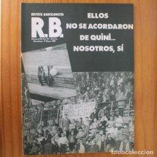 Coleccionismo deportivo: RB REVISTA BARCELONISTA 832, 11 MARZO 1981. HELENIO HERRERA, QUINI... BARÇA FUTBOL CLUB BARCELONA. Lote 210535945
