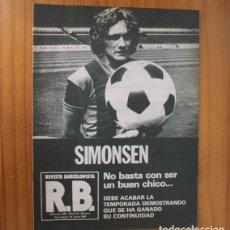 Coleccionismo deportivo: RB REVISTA BARCELONISTA 845, 10 JUNIO 1981. SIMONSEN, AT. BILBAO... BARÇA FUTBOL CLUB BARCELONA. Lote 210536265