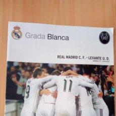 Coleccionismo deportivo: REVISTA GRADA BLANCA 15-3-2015 REAL MADRID-LEVANTE CON PÓSTER DE MODRIC. Lote 210835881