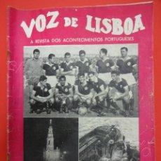 Coleccionismo deportivo: VOZ DE LISBOA. REVISTA. BENFICA CAMPEAO. Nº 4 ANO 1957. Lote 211398014