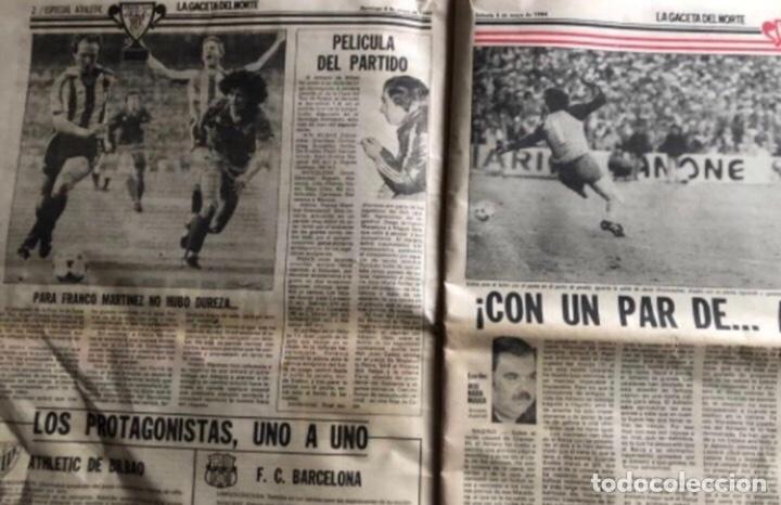 Coleccionismo deportivo: ATHLETIC CLUB BILBAO, ¡¡TRICAMPEONES!!. LA GACETA DEL NORTE 6/5/1984. - Foto 2 - 211442670