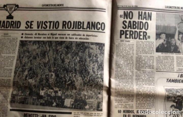 Coleccionismo deportivo: ATHLETIC CLUB BILBAO, ¡¡TRICAMPEONES!!. LA GACETA DEL NORTE 6/5/1984. - Foto 3 - 211442670