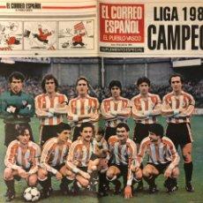 Coleccionismo deportivo: ATHLETIC CLUB BILBAO, CAMPEONES LIGA 1983/84. SUPLEMENTO ESPECIAL EL CORREO ESPAÑOL. 30/2/1984.. Lote 211442394