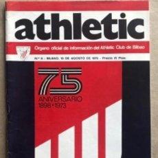 Coleccionismo deportivo: ATHLETIC CLUB BILBAO. REVISTA OFICIAL DEL CLUB N° 8 (1973). ESPECIAL 75º ANIVERSARIO. POSTER VILLAR. Lote 211521794