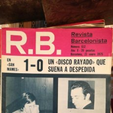 Coleccionismo deportivo: R.B REVISTA BARCELONISTA 512. Lote 211668718
