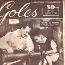 Coleccionismo deportivo: 1951 REVISTA GOLES # 138 FANGIO GALVEZ BOCA Y SAN LORENZO EN MEXICO JOSE SEVERO ZORZENON. Lote 211734324