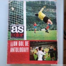 Coleccionismo deportivo: AS COLOR Nº 124 CON POSTER DEL MURCIA F.C (2 DE OCTUBRE DE 1973). Lote 212781603