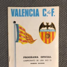 Collezionismo sportivo: FÚTBOL VALENCIA CF. PROGRAMA OFICIAL (07/10/72) VALENCIA C DE F - BURGOS C. DE F.. Lote 212831117