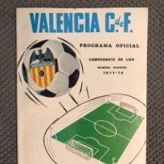 Collezionismo sportivo: FÚTBOL VALENCIA CF. PROGRAMA OFICIAL (16/04/72) VALENCIA C DE F - SEVILLA C. DE F.. Lote 212831576